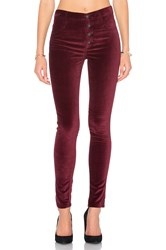 James Jeans High Class Velvet Skinny Rouge Noir