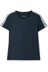 Tory Sport Banner Printed Stretch T Shirt Navy