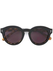 Stella Mccartney Keyhole Round Frame Sunglasses Black