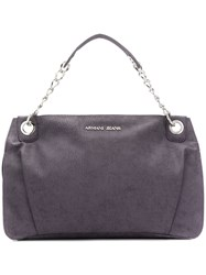 Armani Jeans Large Shoulder Bag Purple