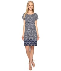 Hatley Tee Shirt Dress Tiled Mandella Women's Dress Gray