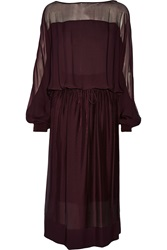 Tamara Mellon Silk Georgette Midi Dress