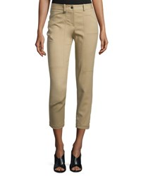 Halston Slim Fit Cropped Pants Thyme