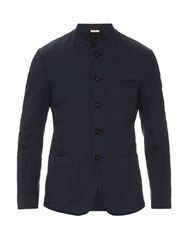 Massimo Alba Patch Pocket Cotton Jacket Blue