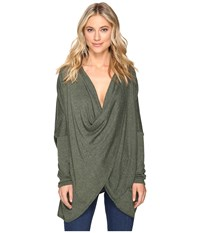 Culture Phit Fawn Twist Front Sweater Olive Women's Sweater