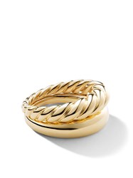 David Yurman 18Kt Yellow Gold Pure Form Stack Rings 88