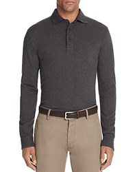 Brooks Brothers Knit Oxford Long Sleeve Regular Fit Polo Shirt Charcoal