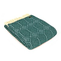 Tweedmill Churchpane Wool Throw Emerald