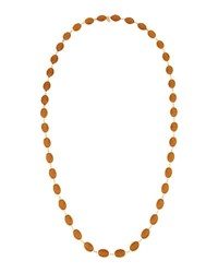 Emily And Ashley Long Oval Crystal Necklace Brown