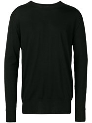 Laneus Long Sleeve Fitted Sweater Black