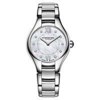 Raymond Weil 5124 St00985 Women's Noemia Mother Of Pearl Diamond Dial Watch Silver