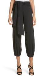 Alice Olivia Women's Braxton Crop Linen Blend Pants Black