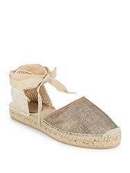 Ash Almond Toe Espadrille Flats Gold