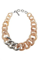 Lafayette 148 New York Chain Link Statement Necklace Rye Multi