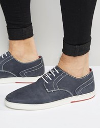 Dune Derby Shoes In Navy Blue