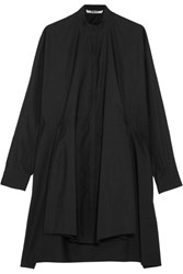 Chalayan Tie Back Cotton Poplin Shirt Black
