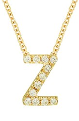 Bony Levy Women's Pave Diamond Initial Pendant Necklace Nordstrom Exclusive Yellow Gold Z