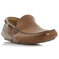 Bertie 'Blue Sky' Leather Driving Loafers Tan