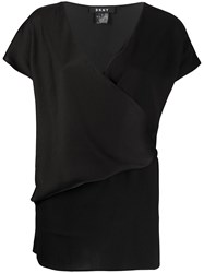 Dkny V Neck Wrap T Shirt 60