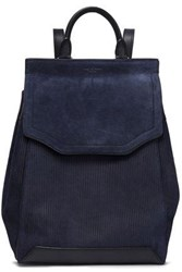 Rag And Bone Suede Leather Backpack Navy