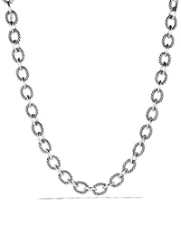 David Yurman Oval Large Link Necklace 17.5 Silver
