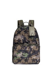 Valentino 'Camustars' Nylon Canvas Backpack Green