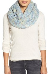 Women's Echo Boucle Knit Infinity Scarf Blue Ultra Lite Marine