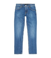 Stefano Ricci Light Wash Relaxed Denim Jeans Male Blue