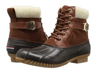 Tommy Hilfiger Roscoe Brown Faux Leather Women's Shoes