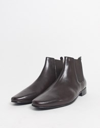 Kg By Kurt Geiger Wide Fit Leather Chelsea Boot In Brown