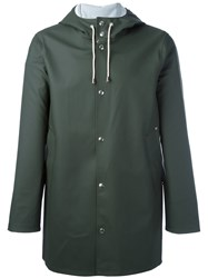 Stutterheim Drawstring Hood Raincoat Green