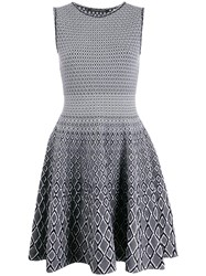 Antonino Valenti Knitted Flared Dress Black