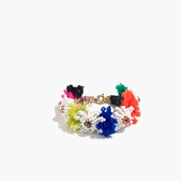 J.Crew Beaded Blossom Bracelet Multi Color