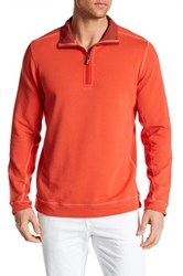 Tommy Bahama Ben And Terry Half Zip Pullover Orange