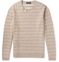 Alex Mill Striped Merino Wool Sweater Cream