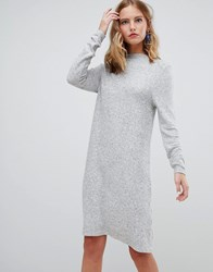 Only Brushed Knitted Jumper Dress Light Grey