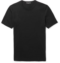 Dolce And Gabbana Slim Fit Cotton Jersey T Shirt Black