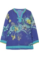 Matthew Williamson Printed Cotton And Silk Blend Vole Top
