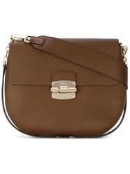 Furla Club's Satchel Women Leather One Size Brown