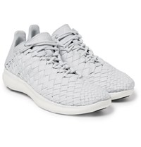 Nikelab Free Inneva Leather Trimmed Mesh Sneakers Light Gray