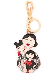 Dolce And Gabbana ' Dg Family' Keyring Metallic