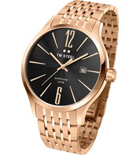 Tw Steel Tw1308 Slim Line Rose Gold Plated Stainless Watch Stainless Steel