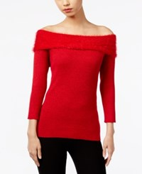 Ny Collection Marilyn Off The Shoulder Top Scarlet Sage