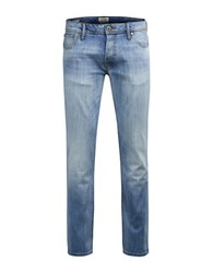Jack And Jones Slim Fit Faded Denim Pants Blue Denim