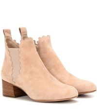 Chloe Suede Ankle Boots Neutrals