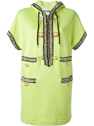 Moschino Hooded Dress Green