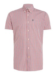 Barbour Men's Alston Gingham Short Sleeve Shirt Red