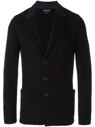 Giorgio Armani Patch Pocket Blazer Blue