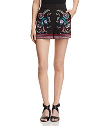 Parker Tatum Embroidered Shorts Black