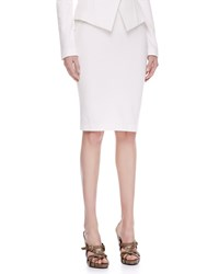 Donna Karan Pull On Jersey Pencil Skirt Ivory